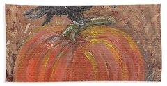 Pumpkin Crow Hand Towel