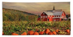 Pumpkin Farm Bath Towel by Lori Deiter