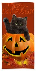 Pumpkin Kitty Hand Towel