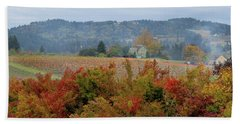 Pumpkin Patch Farm In Oregon Bath Towel by Jit Lim