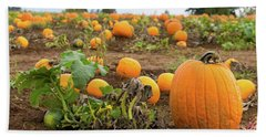 Pumpkin Patch Bath Towel by Jit Lim