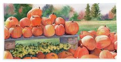 Pumpkins For Sale Bath Towel