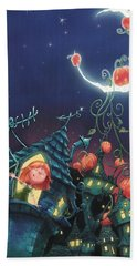 Pumpkins On The Moon Hand Towel