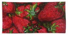 Pungo Strawberries Hand Towel