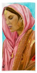 Punjabi Beauty Punjaban Hand Towel