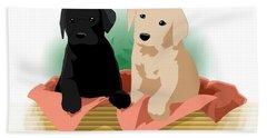 Puppy Basket Bath Towel