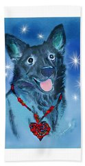 Puppy For Christmas Hand Towel