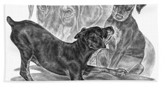 Puppy Love - Doberman Pinscher Pup Hand Towel