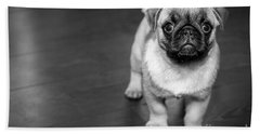 Puppy - Monochrome 2 Bath Towel