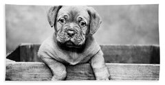 Puppy - Monochrome 3 Bath Towel