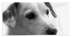 Puppy - Monochrome 4 Bath Towel