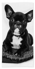 Puppy - Monochrome 5 Bath Towel