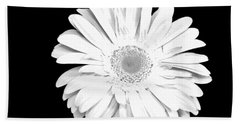 Pure White Gerber Daisy Bath Towel