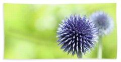 Purple Allium 1 Hand Towel by Jimmy Ostgard