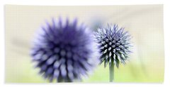 Purple Allium 2 Hand Towel by Jimmy Ostgard