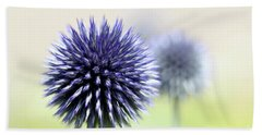 Purple Allium 3 Hand Towel by Jimmy Ostgard