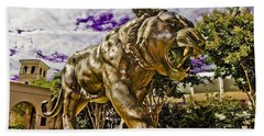 Purple And Gold Hand Towel by Scott Pellegrin