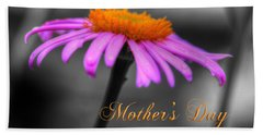 Bath Towel featuring the photograph Purple And Orange Coneflower Mothers Day Brunch by Shelley Neff
