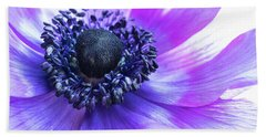 Purple Anemone Hand Towel