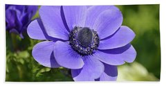 Purple Anemone Hand Towel