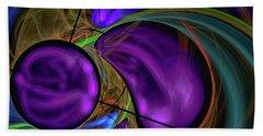 Hand Towel featuring the digital art Purple Anyone by Deborah Benoit