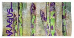 Hand Towel featuring the painting Purple Asparagus by Kim Nelson