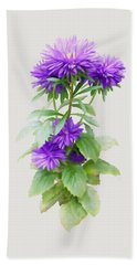 Purple Aster Hand Towel