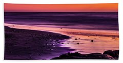 Purple Beach Hand Towel