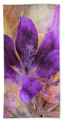 Purple Blossom Bath Towel