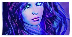 Purple Blue Portrait Bath Towel