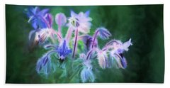 Purple Borage Bath Towel by Bonnie Bruno