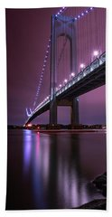 Bath Towel featuring the photograph Purple Bridge by Edgars Erglis
