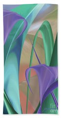 Purple Calla Lilies Bath Towel