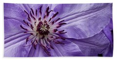 Purple Clematis Blossom Hand Towel