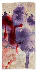 Purple Color Splash Hand Towel