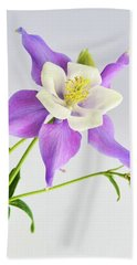 Purple Columbine Hand Towel