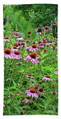 Bath Towel featuring the digital art Purple Coneflower  by Eva Kaufman