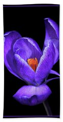 Purple Crocus Hand Towel