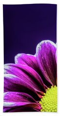 Purple Daisy Being Shy Hand Towel