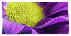 Purple Daisy In The Garden Hand Towel