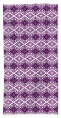 Hand Towel featuring the digital art Purple Diamonds by Elizabeth Lock