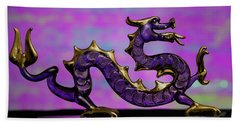 Purple Dragon Hand Towel