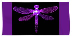 Purple Dragonfly Hand Towel