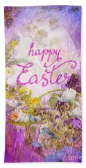 Purple Easter Bath Towel