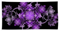 Hand Towel featuring the photograph Purple Floral Celebration by Sandy Keeton