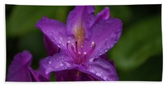 Hand Towel featuring the photograph Purple Flower 7 by Timothy Latta