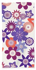 Purple Flower Fantasy Hand Towel by Methune Hively