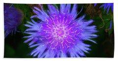 Purple Flower From Mars Hand Towel