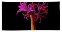 Purple Flower In A Pencil Vase  Hand Towel