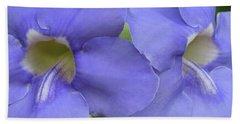 Purple Flower Picture Perfect Bath Towel